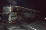 На трассе Минск-Гродно под Щучином сгорел пассажирский автобус (фото)